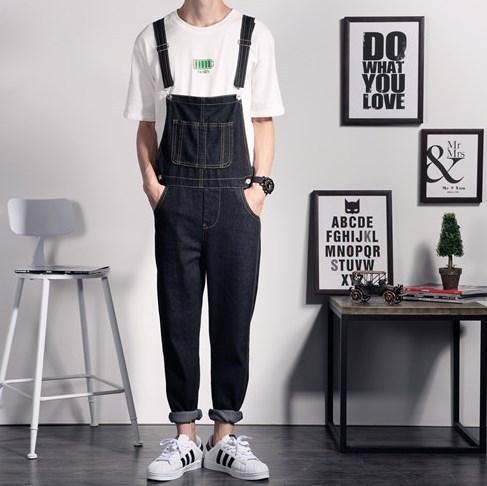 2c0b17260fb New Brand Mens Black Denim Overalls Men Denim Pants Suspenders Jeans Black Male  Denim Jumpsuit Salopette