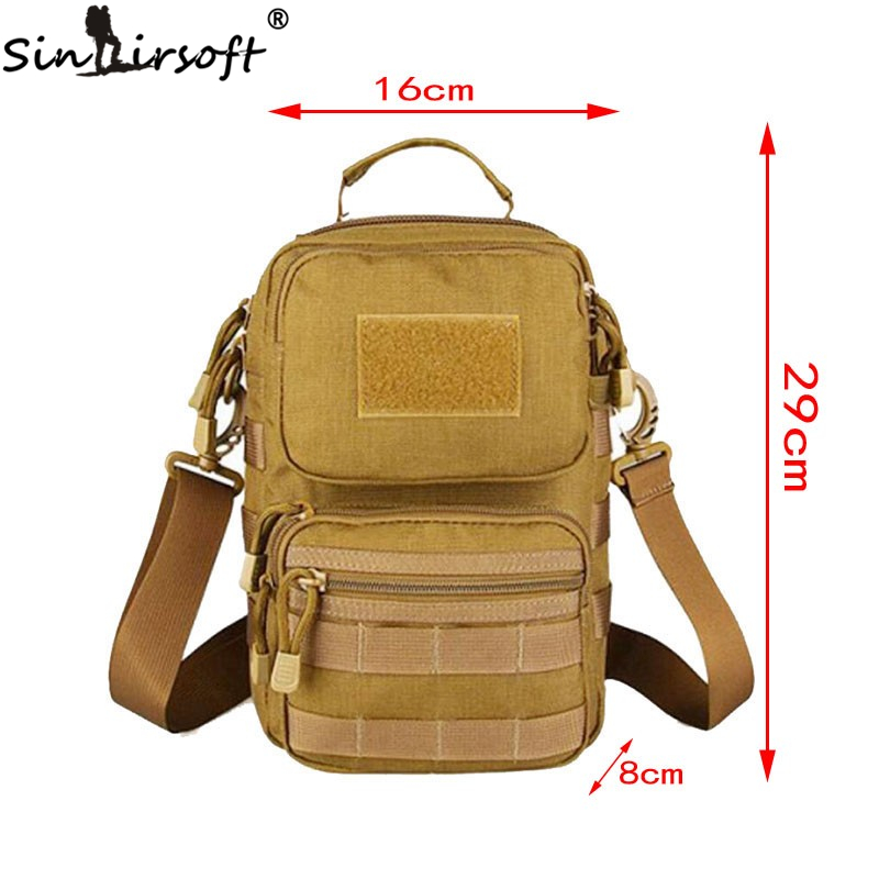 Tactical 068 Hunting Fishing Camping Outdoor Sport Wading Chest Pack Cross Body Sling Single Shoulder Bags 1000D CORDURA Fabric camping outdoor fabric pack outdoor bag - title=