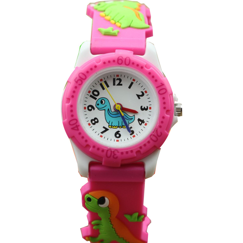 Children Watch 3D Cartoon Kids Watches Boys Girls Clock Child Dinosaur Silicone Strap Quartz Watch Students Gifts watch joyrox minions pattern children watch 2017 hot despicable me cartoon leather strap quartz wristwatch boys girls kids clock