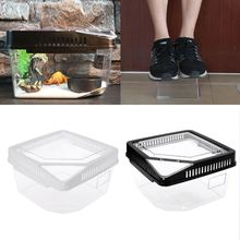 Plastic Container Reptile Feeding Box Spider Scorpion Insect Terrarium Breeding