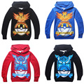 Boys  girls Spring Autumn POKE MON GO hooded sweater  long-sleeved T-shirt Children's Sweatshirts 4colors