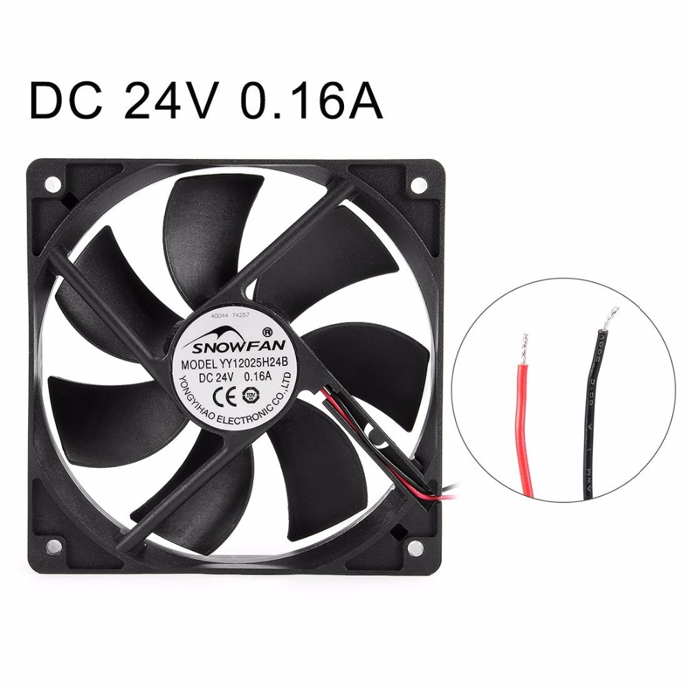 120mm x 120mm x 25mm 12025 24V DC Cooling Fan with Long Life Dual Ball Bearings