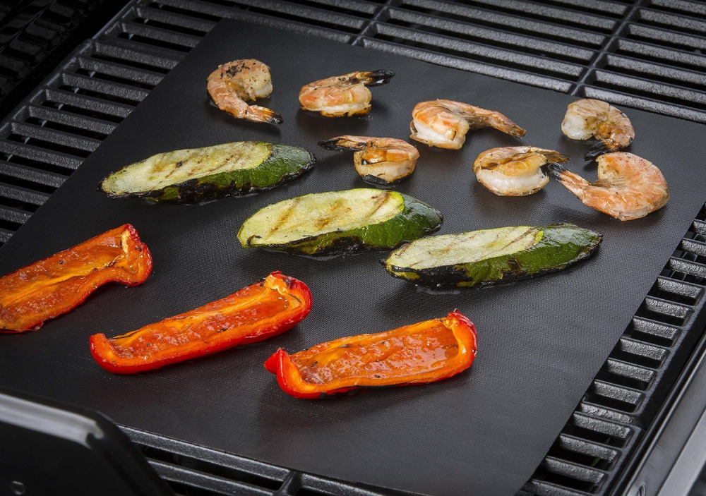 PTFE Non-stick BBQ Grill Mat Barbecue Baking Liners Reusable Teflon Cooking Sheets 40 * 30cm Cooking Too monochrome