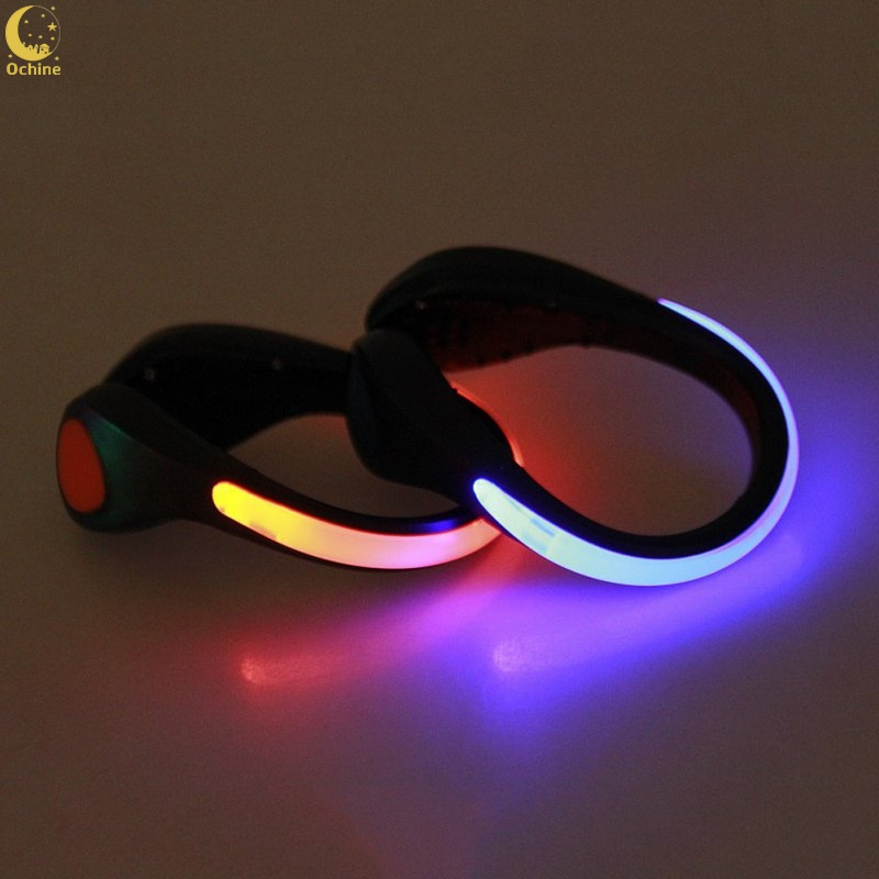 Ochine LED Warning Light Safety Night Running Shoe Safety Clips LED Luminous Bicycle Light With Rechargeable Battery