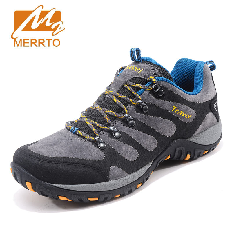 MERRTO men's autumn winter outdoor hiking shoe non-slip damping wear-resistant off-road climbing camping waterproof male sneaker merrto men s outdoor cowhide hiking shoe multi fundtion waterproof anti skid walking sneakers wear resistance sport camping shoe