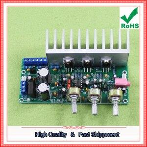Image 2 - Tda2050 + tda2030 2.1 three channel/way módulo subwoofer placa amplificador terminado pé 60 w 0.6 kg
