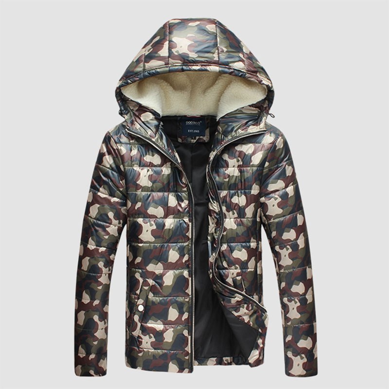 Fashion Winter Jackets For Man Camouflage Hooded Parka Chaqueta Mens Warm Coat Outwear windbreaker