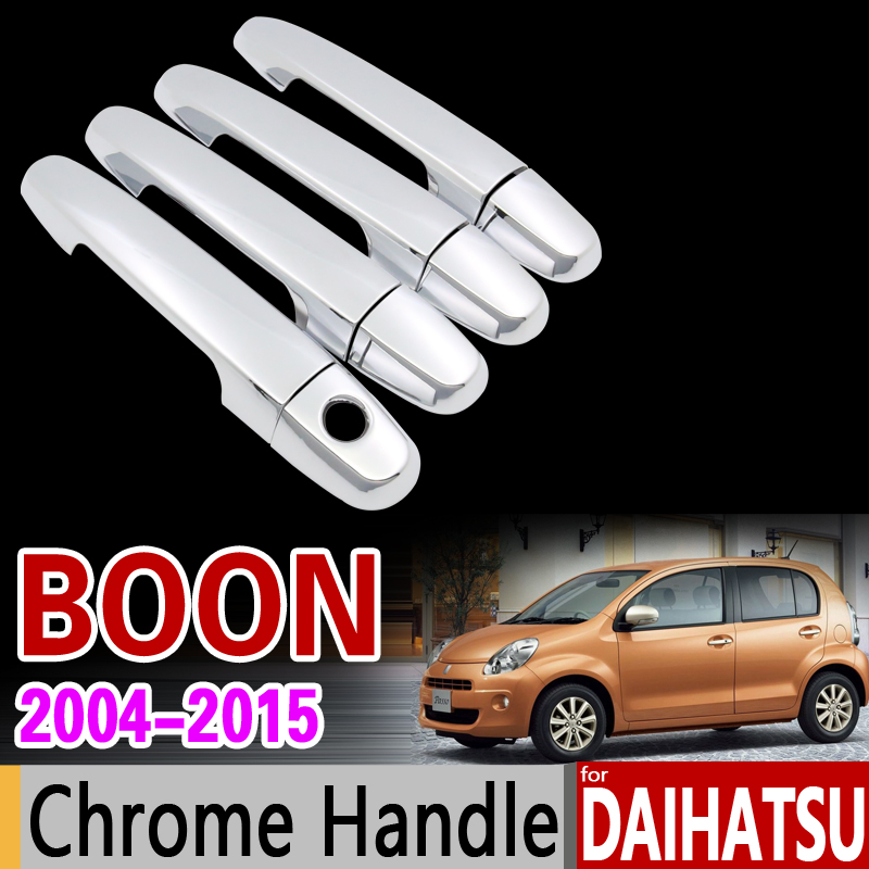 for Daihatsu Boon 2004 - 2015 Chrome Handle Cover Trim Set for Toyota Passo Sirion Perodua MyVi Accessories Stickers Car Styling передняя юбка обвеса tg lip toyota passo daihatsu sirion subaru justy perodua myvi