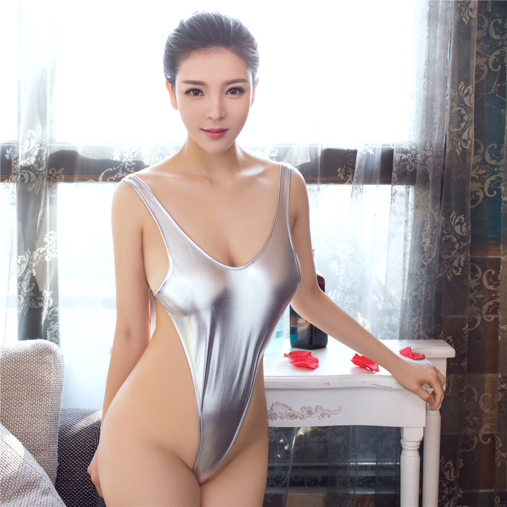 light Vest Big back High fork triangle Conjoined Bikini lenceria body sexy lingerie porno latex catsuit bodystocking lenceria in Teddies Bodysuits from Novelty Special Use