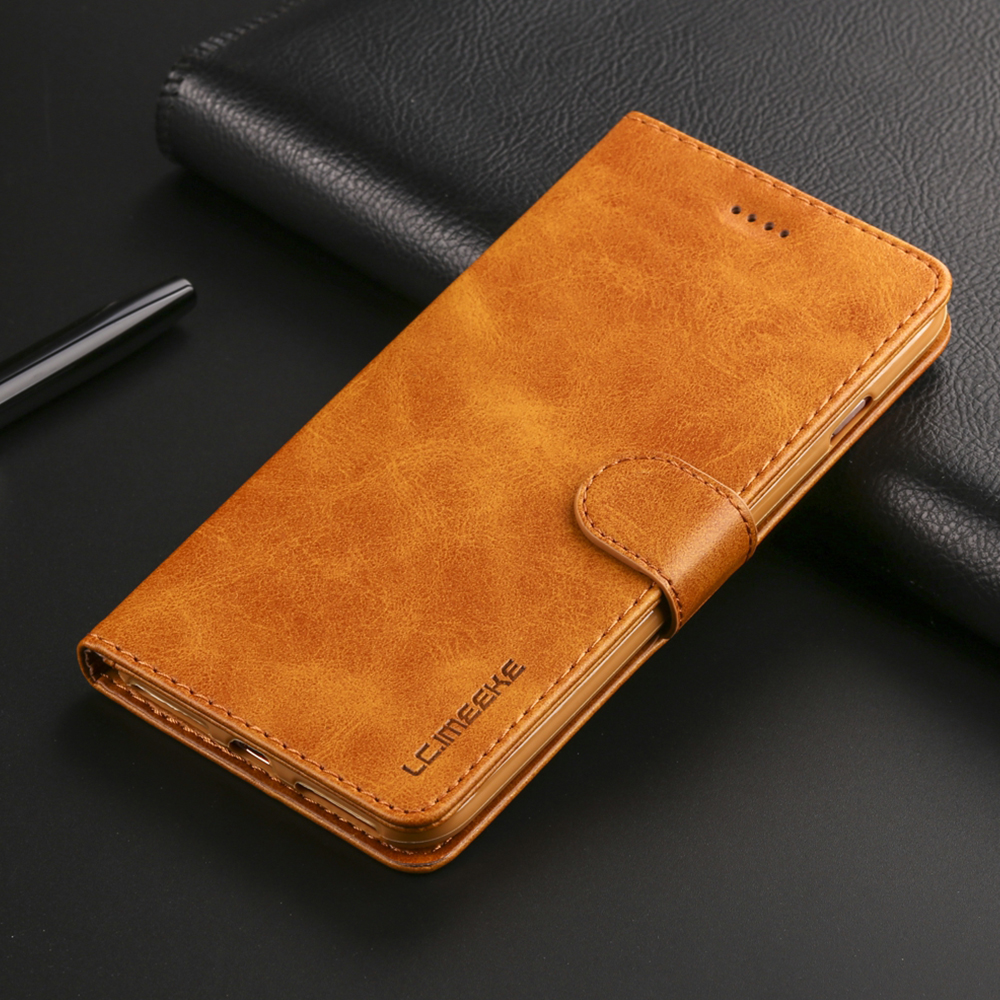 Image 2 - Luxury Leather Flip Case For iPhone 7 8 6 s 6s plus X XS Max XR 11 Pro Max Cover Card Holder Wallet Case For iPhone 5 5S SE-in Flip Cases from Cellphones & Telecommunications
