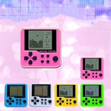 Buy Ultra-small mini Tetris Children handheld game console Portable LCD Players Children Toy Educational Electronic Toys classic directly from merchant!