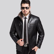 Men Leather Jackets 2016 New Brand Plus Velve Casual Mens Leather Jackets And Coats Jaqueta De