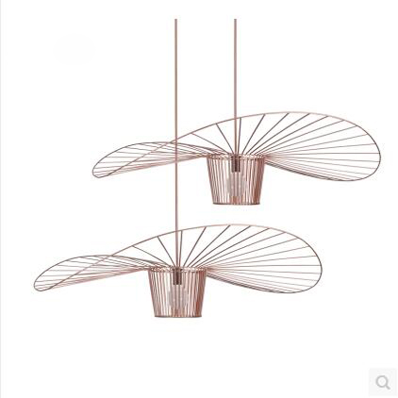 Creative straw hat personality Nordic iron living room restaurant after the modern clothing shop art bar cafe chandelier led 6 e27 heads nordic post modern designer originality personality art living bed room cafe fashion led chandelier home decor light
