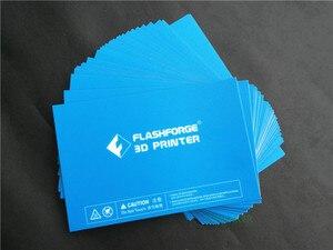 Image 3 - 5 قطعة 232x154 مللي متر فلاشفورج الخالق برو/الحالم/الحالم NX طابعة 3D الأزرق ساخنة السرير الشريط طباعة ملصق بناء لوحة الشريط