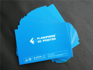 Image 3 - 5pcs 232x154mm Flashforge Creator Pro / Dreamer / Dreamer NX 3D Printer Blue Heated Bed Tape Print Sticker Build Plate Tape