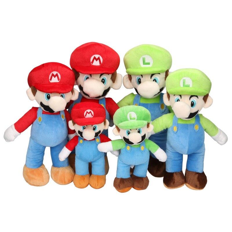 2PCS/Set Super Mario Plush Toys LUIGI & MARIO Doll Stuffed Animals Toy 10