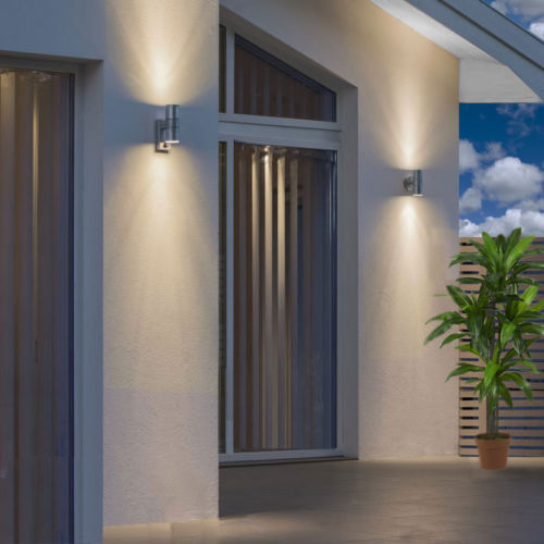Hot Porch Light Induction Movement Sensor Wall Light Up/Down or Single Stainless Steel outdoor Waterprof IP44 68mm*215*148mm