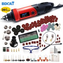 BDCAT 110V/220V 400W Mini Grinder Engraving Variable Speed Dremel Rotary Tools Grinding Power Tools with 206pcs Accessories все цены