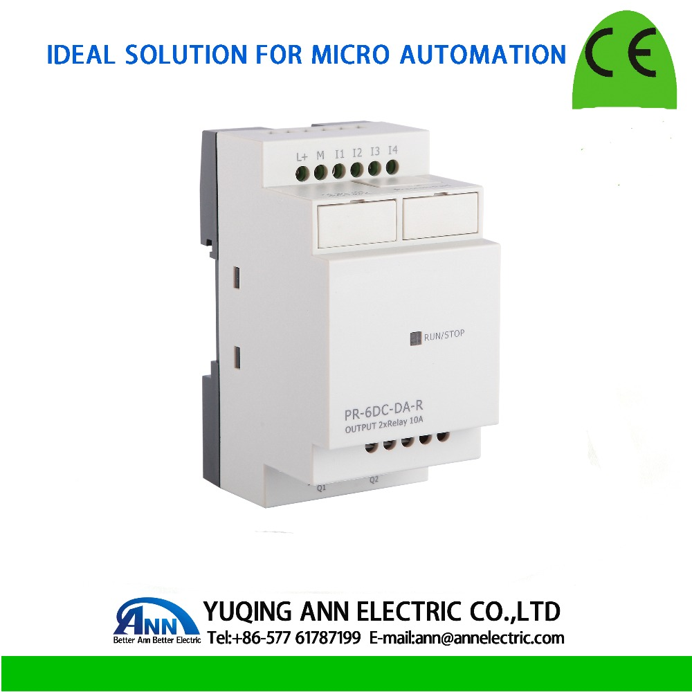 PR-6DC-DA-R without cable Programmable logic controller,smart relay,Micro PLC controller , CE ROHS pr 24ac r with lcd without cable programmable logic controller smart relay micro plc controller ce rohs