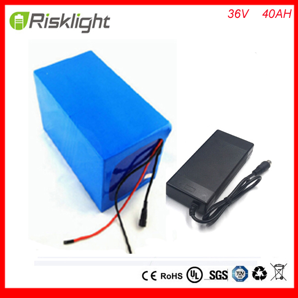 FCC/CE/ROSH 1000W 36V 40AH Electric Bicycle Battery 36V Lithium Battery 36V 40AH E-bike battery 30A BMS 2A charger free shipping free customs taxe 36v 1000w triangle e bike battery 36v 40ah lithium ion battery pack with 30a bms charger for panasonic cell
