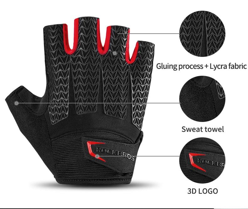 HTB1lp63OFzqK1RjSZFoq6zfcXXat - ROCKBROS Cycling Gloves MTB Road Gloves Mountain Bike Half Finger Gloves Men