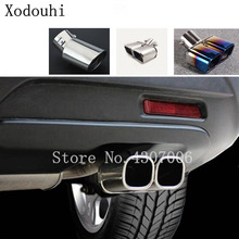 цена на car styling cover muffler exterior end pipe dedicate outlet exhaust tip tail For Suzuki S-cross scross SX4 2014 2015 2016 2017