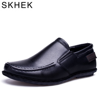 SKHEK Children Shoes Spring Autumn Toddler Little Boys Loafers Shoes For Kid Slip On PU Leather
