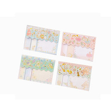 1Pack/lot Cute Cartoon Stripes Memo Pads Notes Posted N Times Office Convenience Stickers(China)