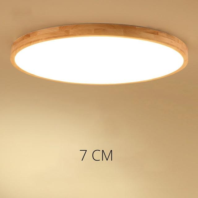 Ongebruikt DX Houten Plafondlamp LED Plafond Verlichting Woonkamer TN-31