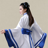 China Daily Guzheng Hanfu Costume Embroidered Stage Dance Costumes Ancient Chinese Costume Black Blue Red