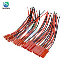 цена на 5Pair 10Pair 20Pair Male/Female Connector 120mm 12cm JST Plug Cable Line For RC BEC Battery Diy 22AWG Wire Connectors