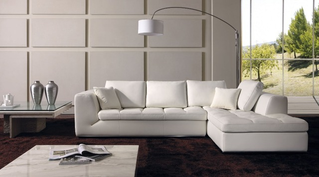 Italy Leather Corner Sectional Sofa L Shaped Designs Sofas Para Sala 8250
