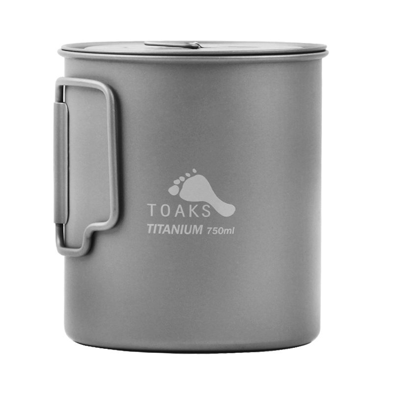 TOAKSPot 750ml Titanium Pot Ultralight Portable Titanium Mugs Camping Titanium Cup