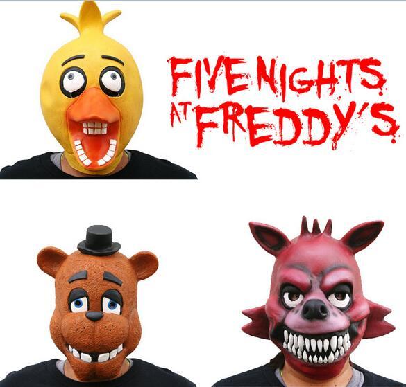Five Nights At Freddy's 4 FNAF Bonnie Foxy Freddy Fazbear Bear mask, gift for kids 857 wholesale five nights at freddy s 4 fnaf freddy fazbear bear foxy plush toys doll kids birthday gift