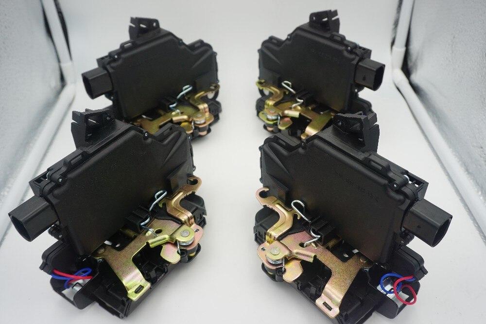 Set Of 4 PCS Front Rear Left Right Door Lock Mechanism For VW GOLF BORA LUPO PASSAT B5 MK4  For SEAT Skoda free shipping left side door lock after 08 for vw new bora 1piece