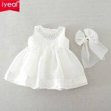 IYEAL/Детское платье для девочек; одежда для малышей; брендовые праздничные платья для новорожденных; Одежда для младенцев; костюмы для девочек; платье на свадьбу и крестины