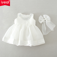 IYEAL Kid Girl Dress Baby Clothing Brand Newborn Party Dresses Infant Clothes Costumes For Girl Wedding Christening Gown