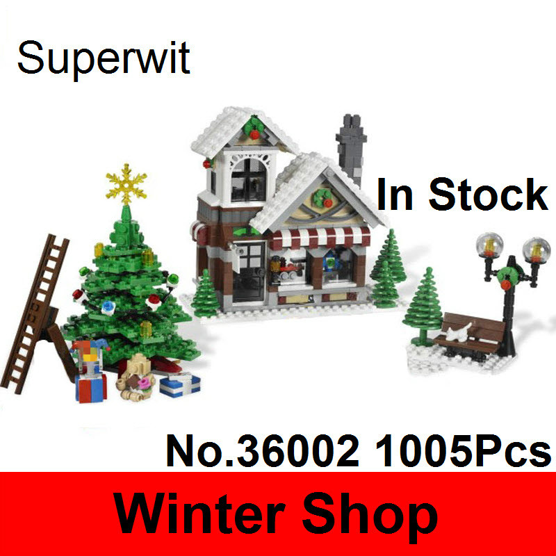 Superwit 1005Pcs Lepin 36002 Genuine Creative Serie The Winter Toy Shop Set Christmas Building Blocks Bricks 10249 For Kids Gift lepin 06058 ninja serie die tempel der ultimative ultimative waffe modell bausteine set kompatibel 70617 spielzeug fur kinder