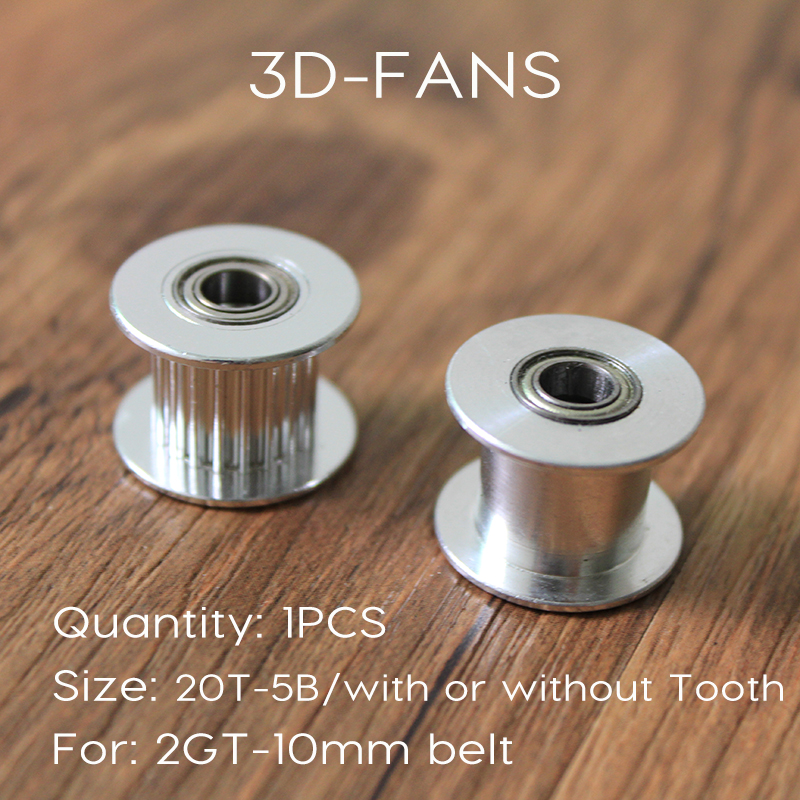 1Pcs GT2 10mm Pulley 20 Without OR With Teeth, Idle Pulley 20Teeth Timing Gear Bore 5MM For GT2 belt Width 10MM For 3D Printer colorful god of war returns 3d metal puzzles model for adult kids manual jigsaw educational toys desktop display collection gift