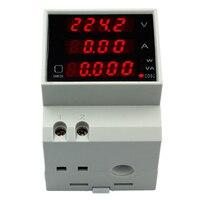 D52-2048 Многофункциональный ЖК-дисплей Digitial Active Мощность фактор энергии текущее Напряжение Вольтметр Амперметр AC 80-300 В скидка 40%