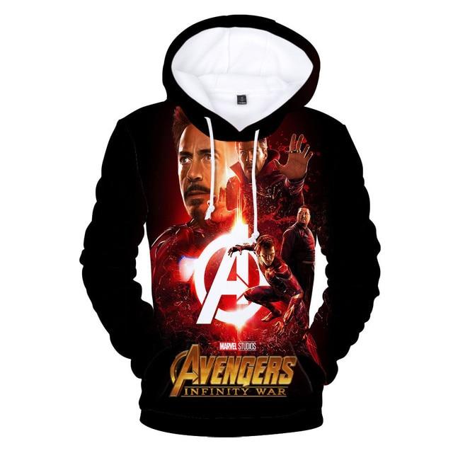 MARVEL Мстители Бесконечность войны Мода 3d толстовки Мужские пуловер 3d худи с принтом толстовки модный пиджак Топы плюс Размеры