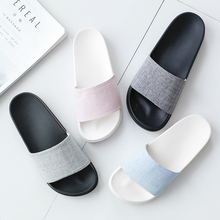 POSEE outdoor Beach slippers Pure color house bathing female summer Flat Sandals Indoor Bathroom Home Slippers 3104