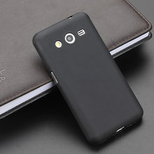 4fbe5236735 Negro TPU Gel Slim suave Skiding caso de la contraportada para Samsung  Galaxy Core2 G355H Core