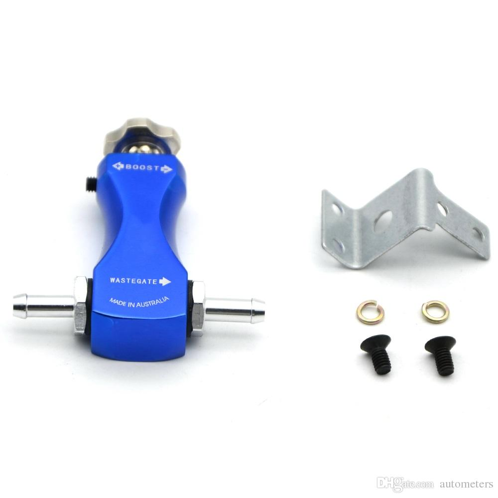 BLUE COLOR UNIVERSAL BOOST-TEE MANUAL BOOST CONTROLLER TURBOCHARGER WITH LOGO