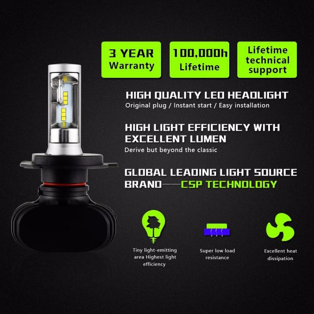 2 шт. светодиодные лампы для автомобильных фар 6500 к 8000LM 50Вт 12В Супер яркий для BMW Honda, Lada Mitsubishi авто передняя лампа стайлинга автомобилей