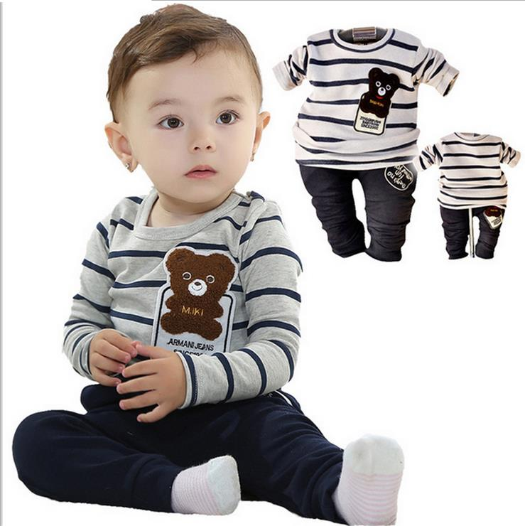 Kids Clothing Sets Long Sleeve T-Shirt + Pants, Autumn Spring Children's Sports Suit Boys Clothes Baby boys set Free Shipping baby boys clothing set boy long sleeve t shirt and cowboy autumn winter fashion clothing sets 2017 new arrival hot sell sets