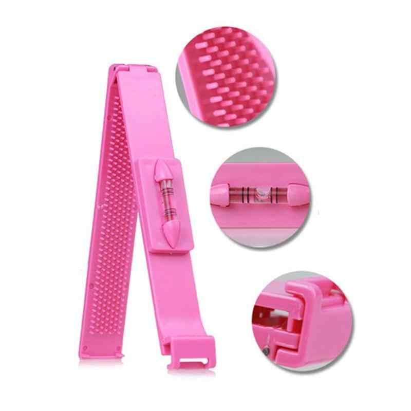2Pcs Professional DIY Tools Women Artifact Set Hair Cutting Scissor with Ruler Hair Cutting Pruning Bangs Hairdressing MFJ3903