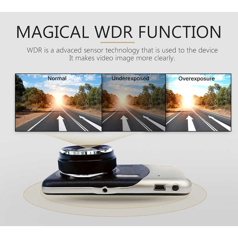 """Автомобильный видеорегистратор с двойной камерой 4 """"ips 1080P FHD зеркало заднего вида видеорегистратор ночного видения Автомобильная камера рекордер"""