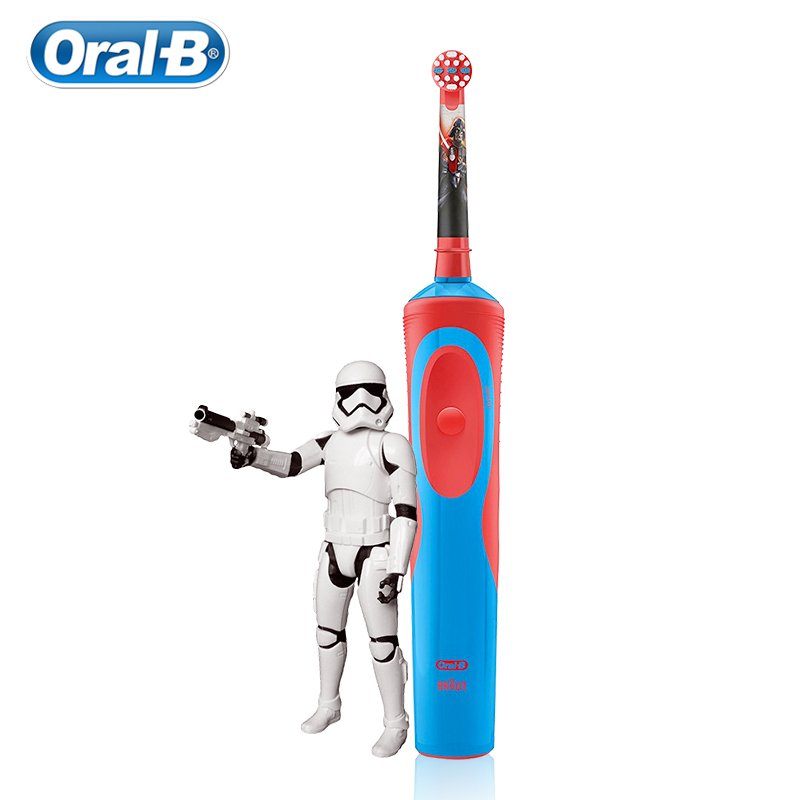 Oral B Children Electric Toothbrush Deep Clean Teeth Tiny Round Head Gum Care Safety Inductive Charge Whole Body Waterproof
