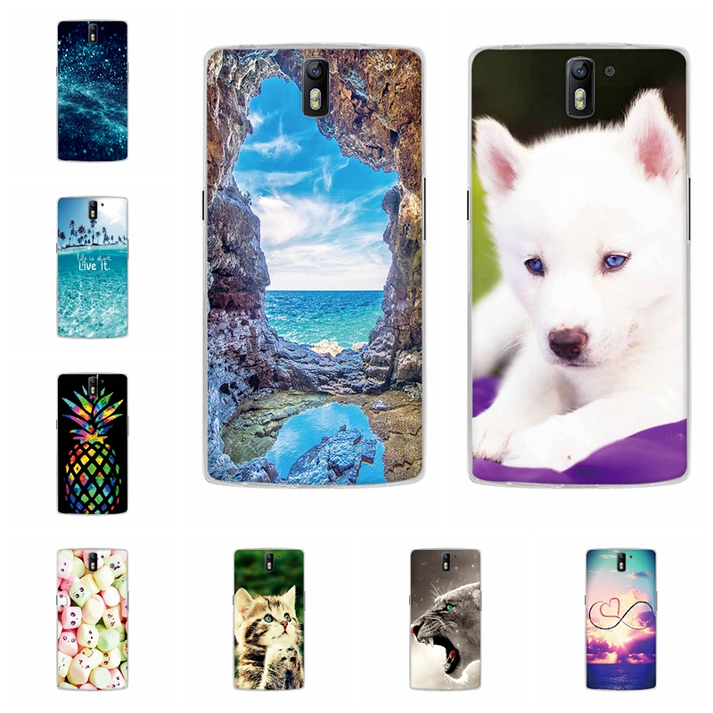 For OnePlus One Back Cover Ultra Thin Soft TPU Silicone For Oneplus One Phone Case Fashion City Patterned For OnePlus one Coque
